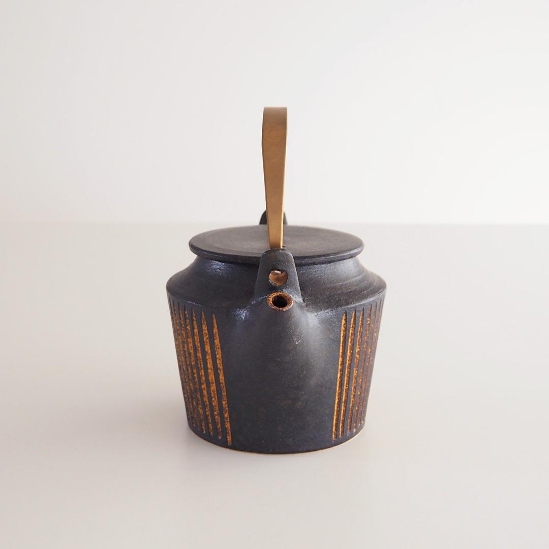 鉄彩/真鍮ハンドルポット/M