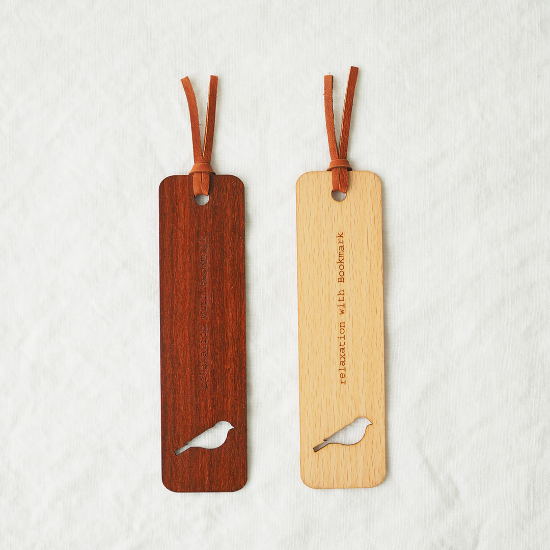 ブックマーク(木の栞)/ビーチ/Bird トリ