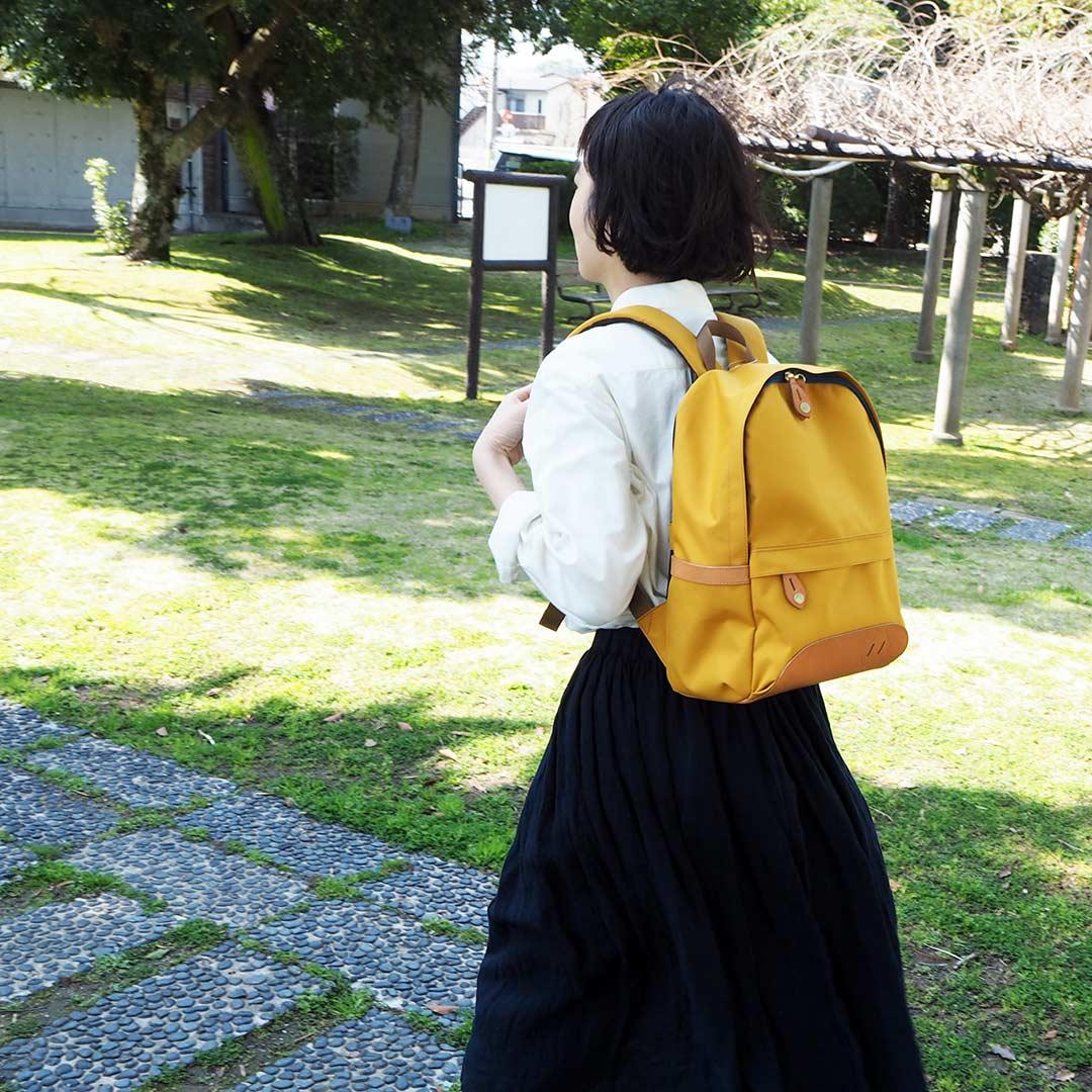 ZAiNOtザイノ/リュックサック/マスタード【受注生産】