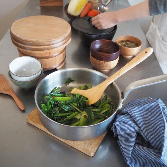 糸島ひのきの料理ヘラ/左きき用