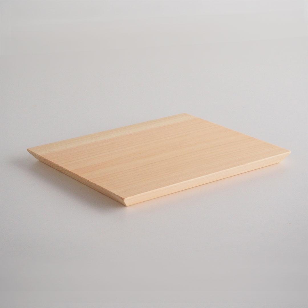 木の板皿(浮造り)/大/糸島桧