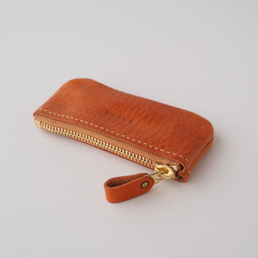 革製ファスナー付きコインケース