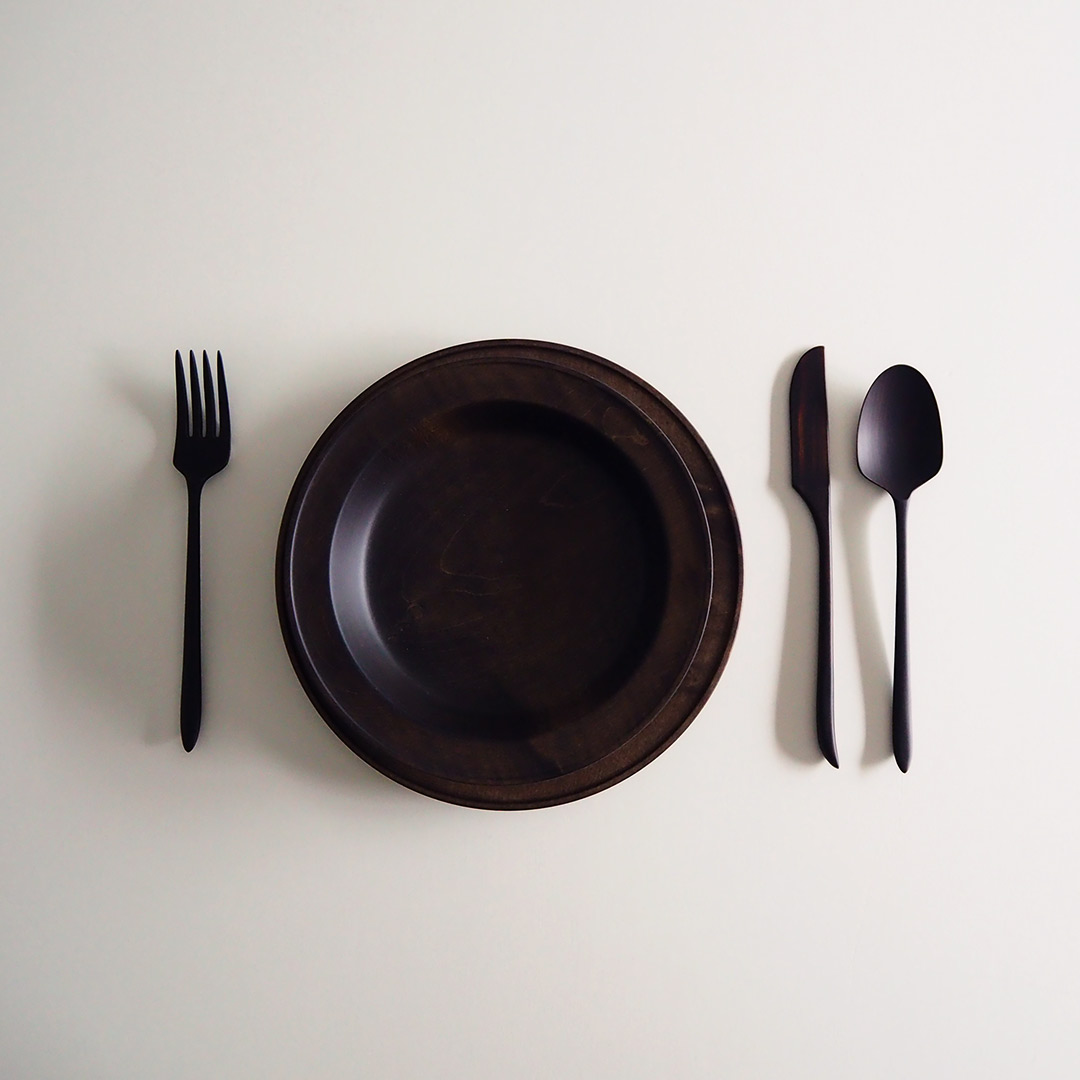 tone ディナーナイフ/縞黒檀