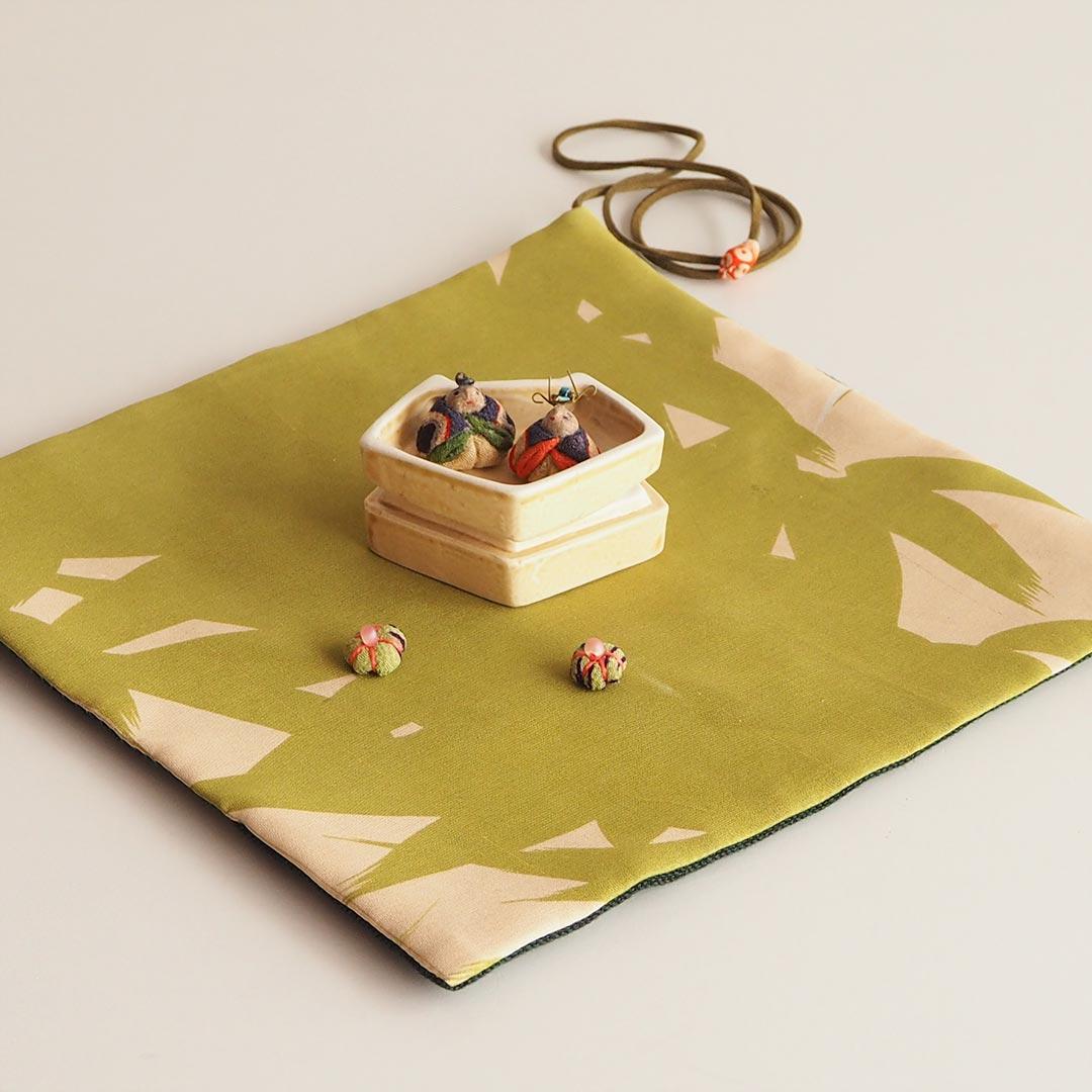木目込みの豆雛/陶箱付き