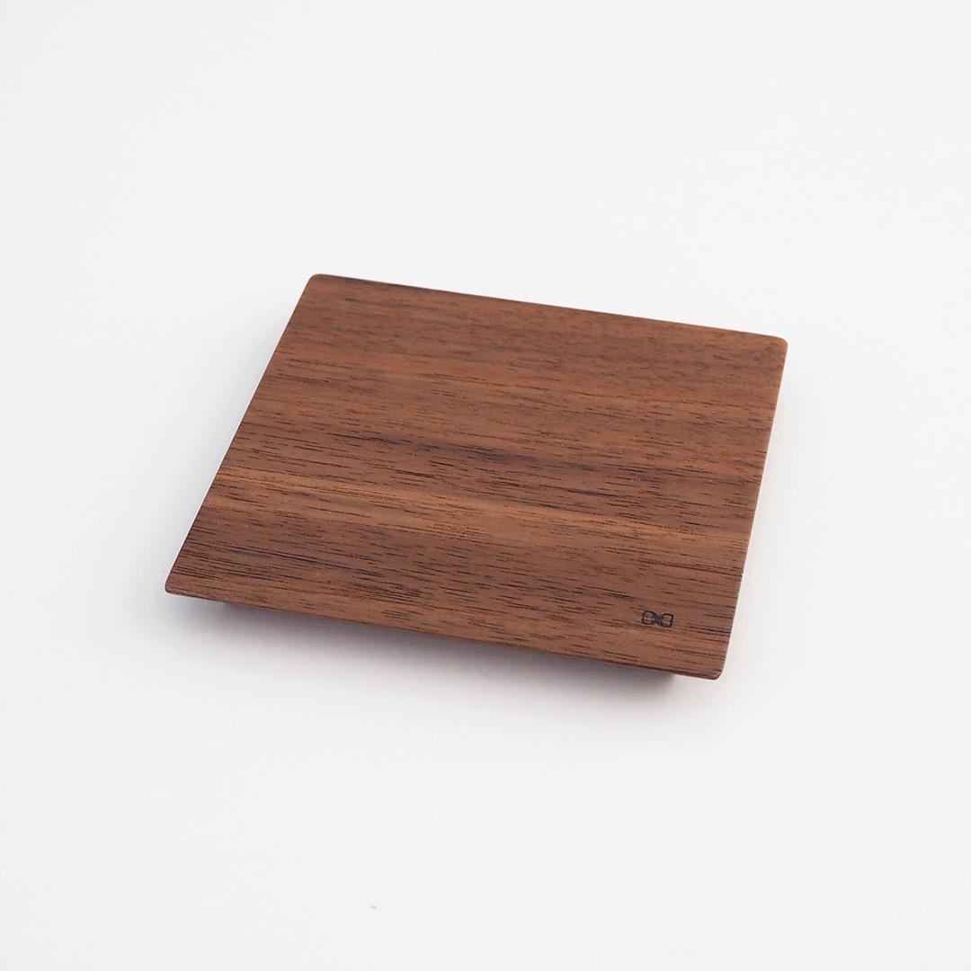 木製スクエアプレート/小/ウォルナット