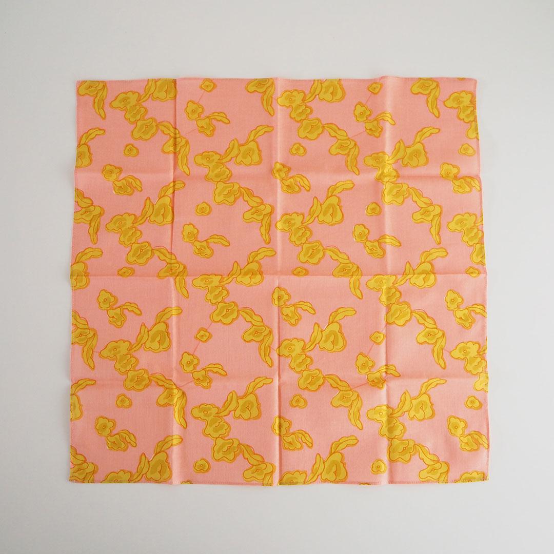 ハンカチ/りんごの花/ピンク