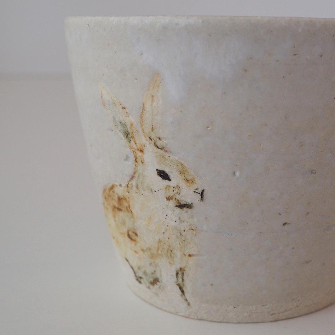 ウサギのそばちょこ/白