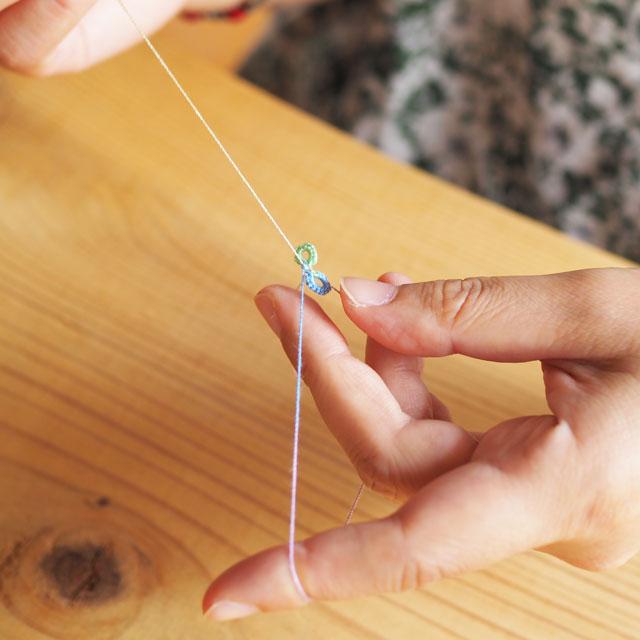 タティングレースのアクセサリー/ガーデンローズイヤリング