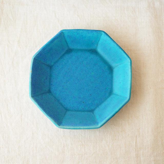 Pure blue/八角皿16cm