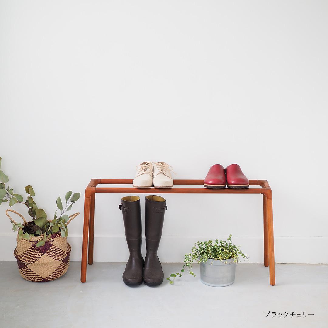 靴おき/大/タモ・ウォルナット・ブラックチェリー【受注生産】