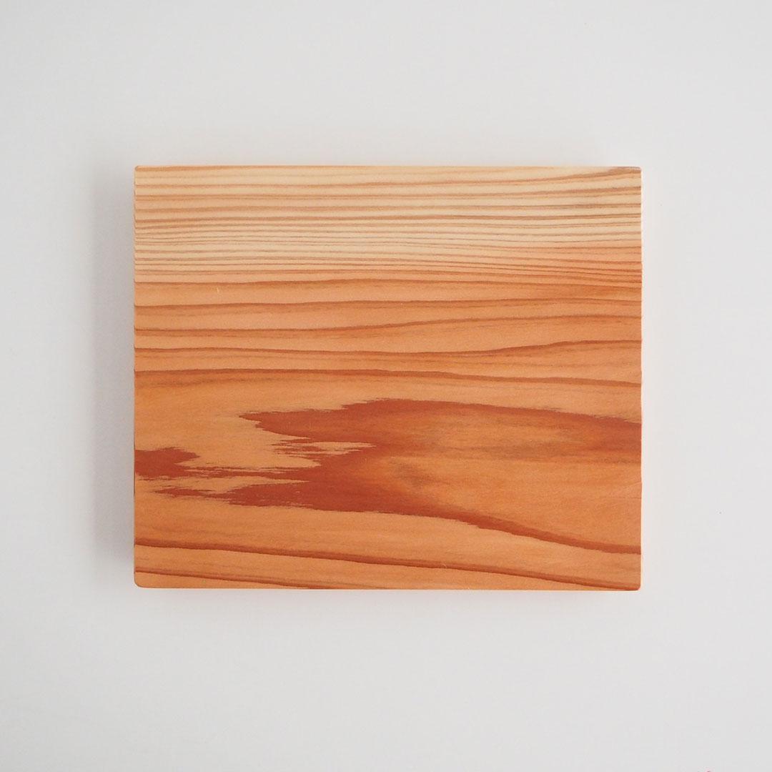 木の板皿(浮造り)/大/糸島杉