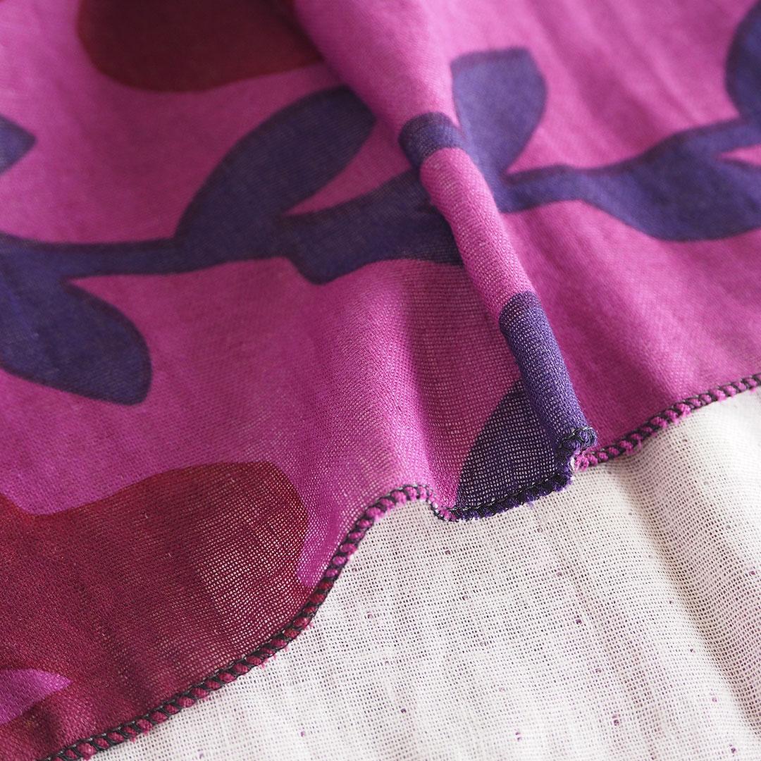 手ぬぐいタオル/ハナミズキ/紫