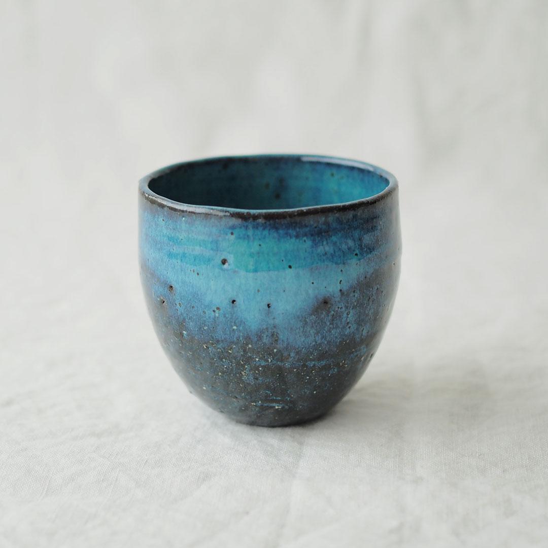 藍色/湯のみ