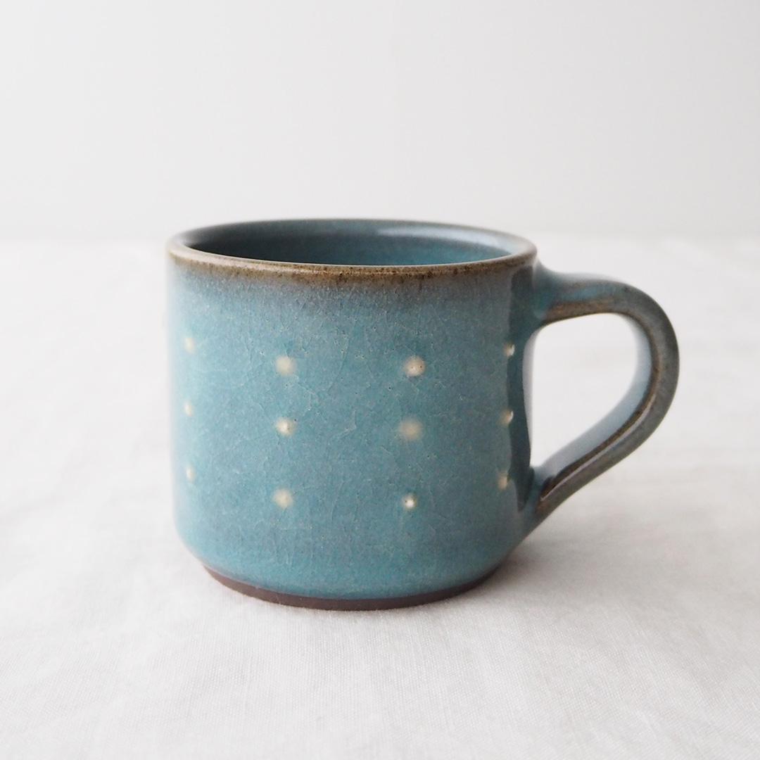 青磁水玉/マグカップ/筒型