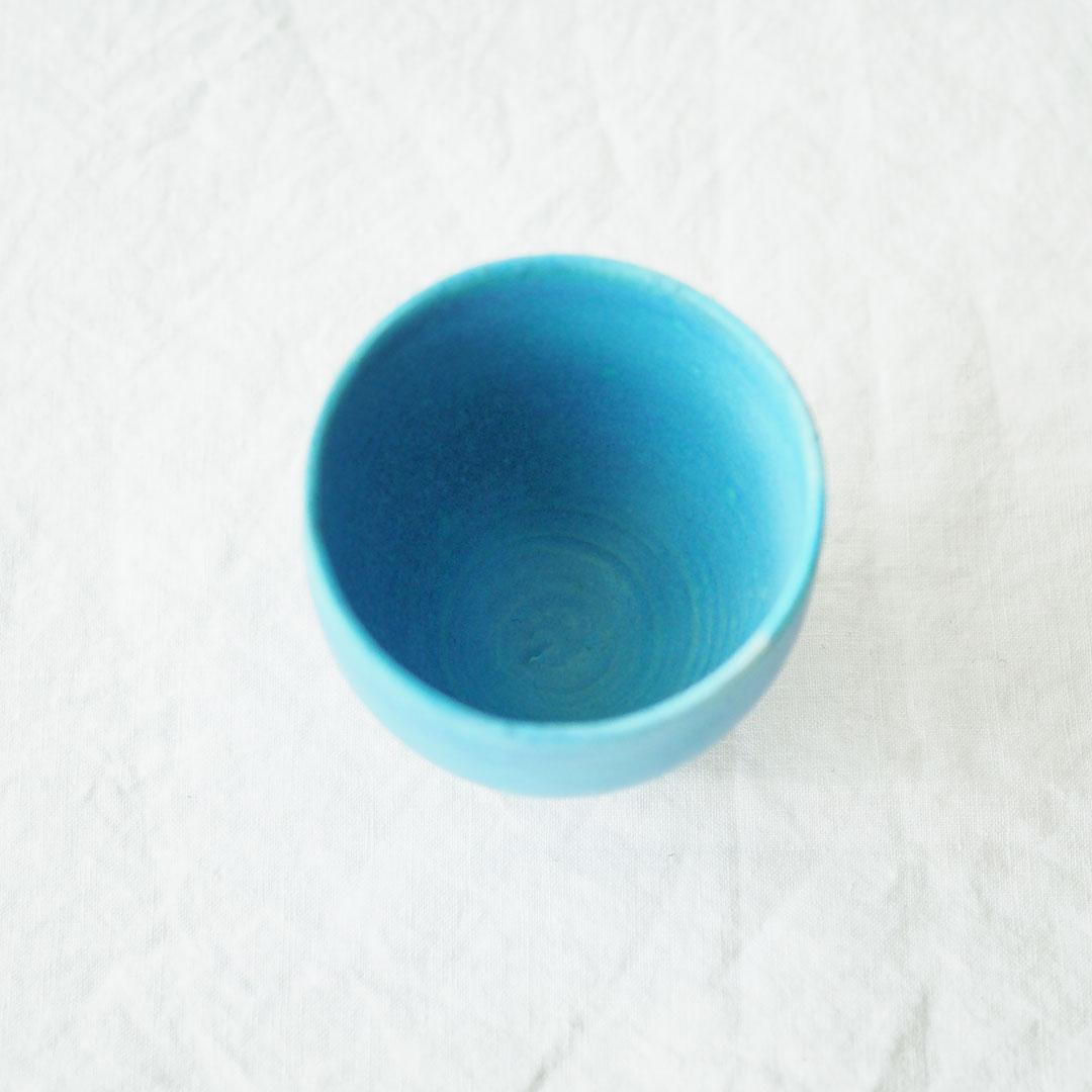 Pure blue/湯のみ