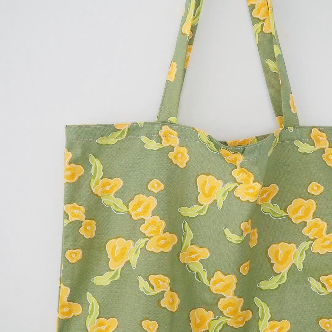 かいものバッグ/りんごの花/C緑