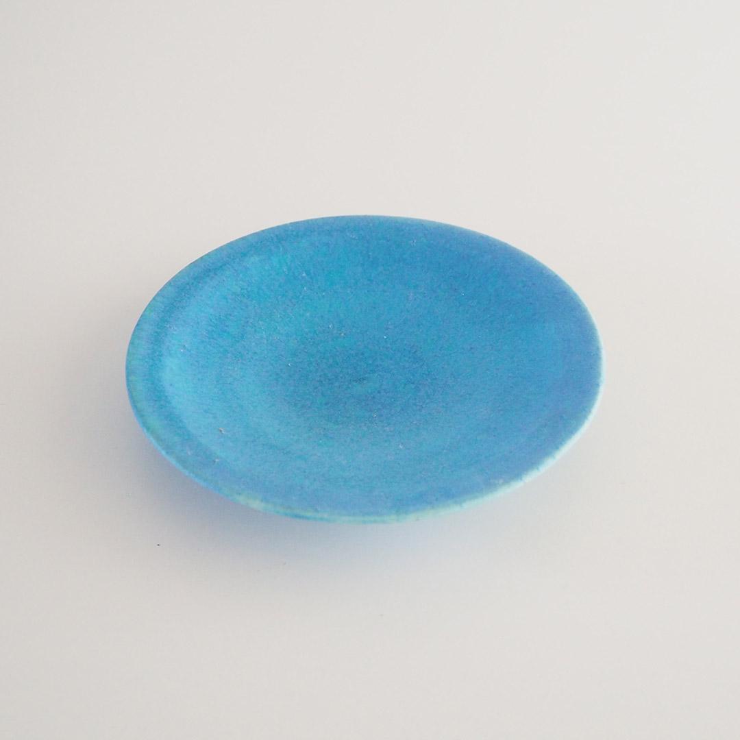 Pure blue/丸皿/15.5cm
