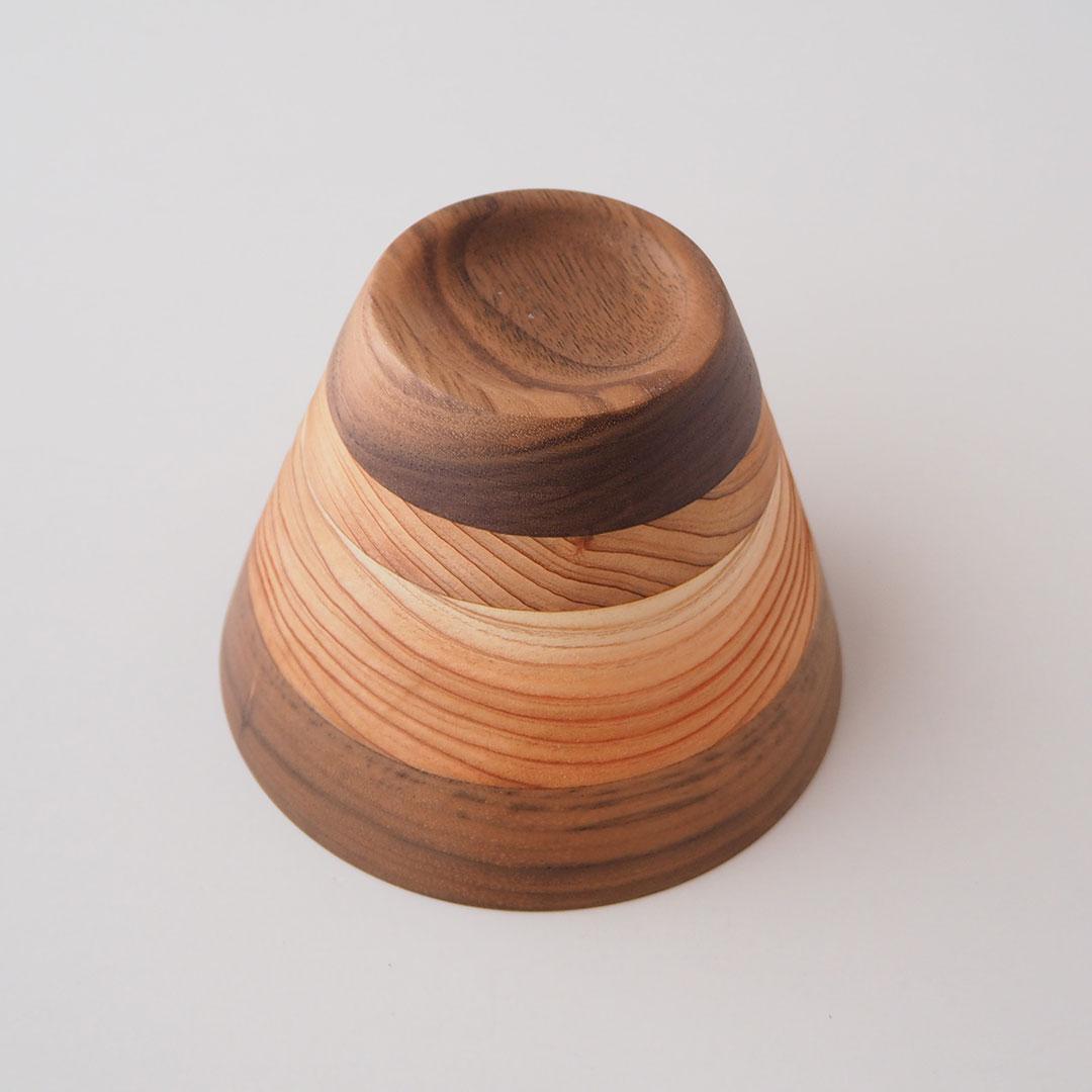 木のしましまカップ