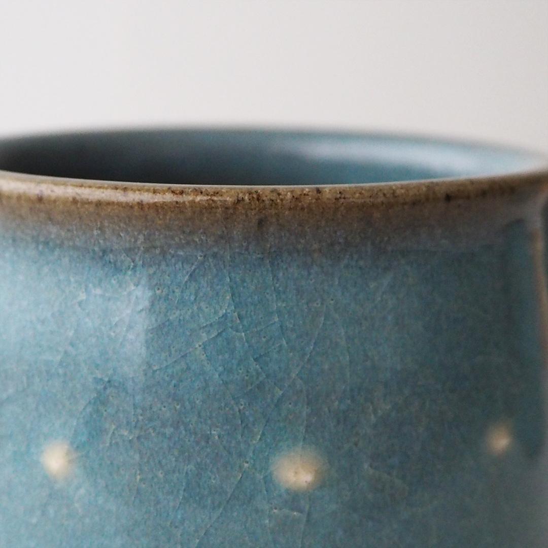 青磁水玉/マグカップ/丸型
