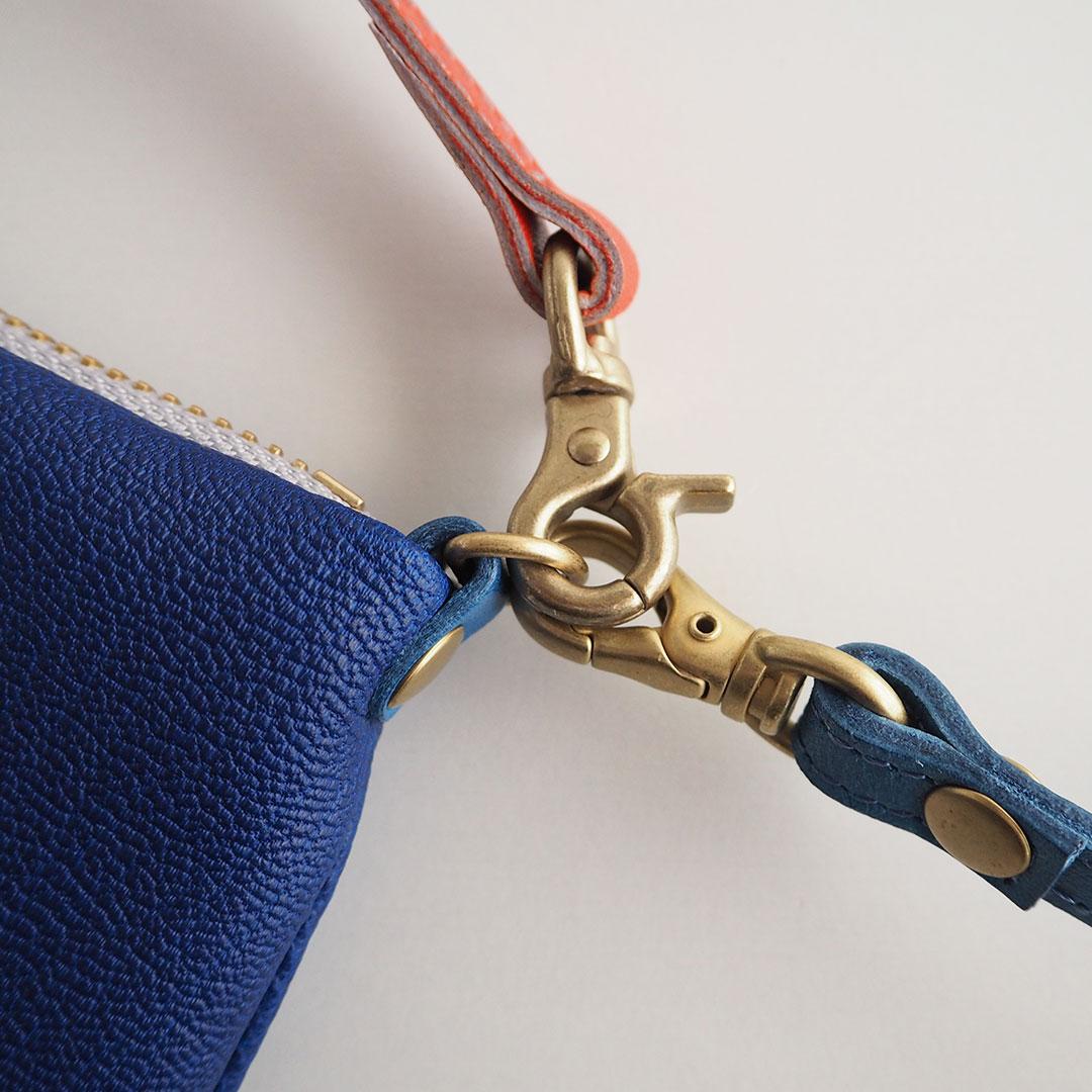 Gioia/ポシェット財布/ブルー