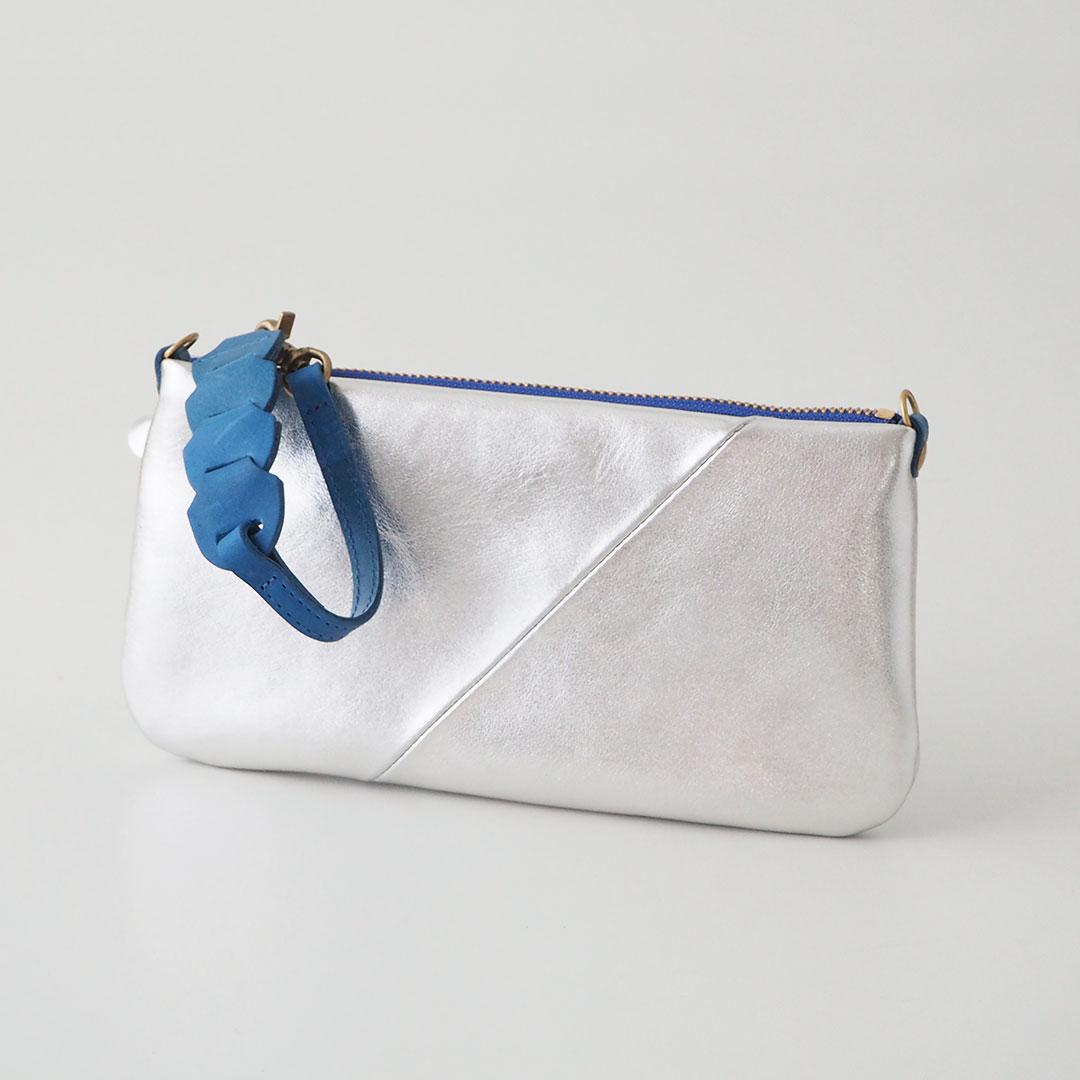 Gioia/ポシェット財布/シルバー【一点物】
