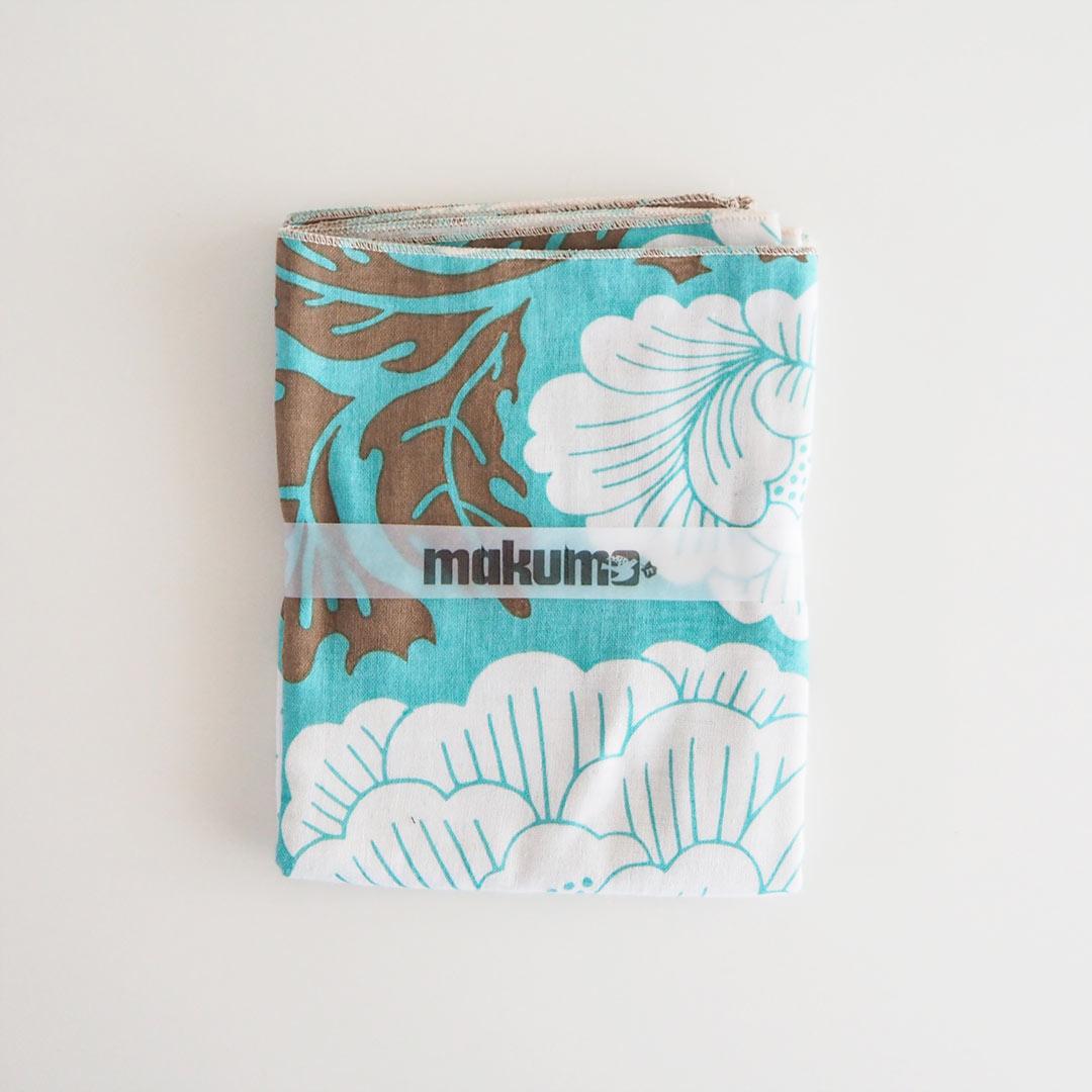 手ぬぐいタオル/牡丹/水色