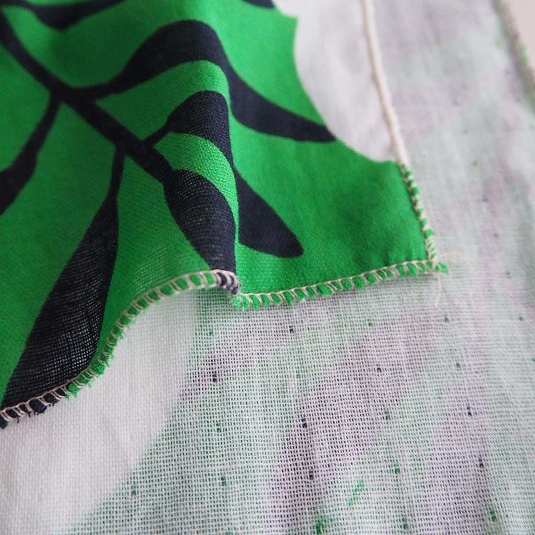 手ぬぐいタオル/椿/緑