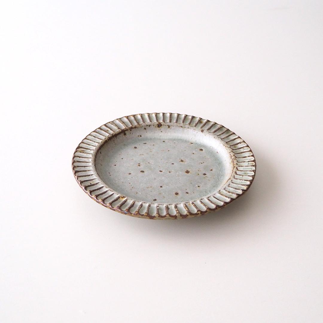 リム丸皿/13.5cm/ツヤなしグレー