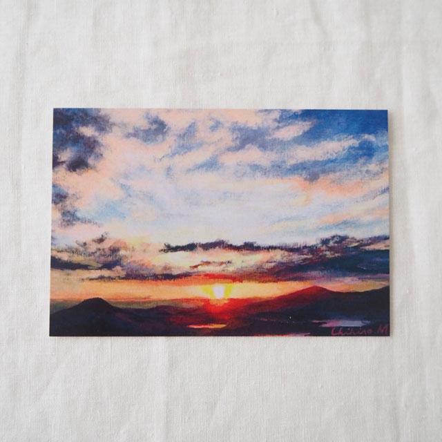ポストカード/日の出(立石山より)