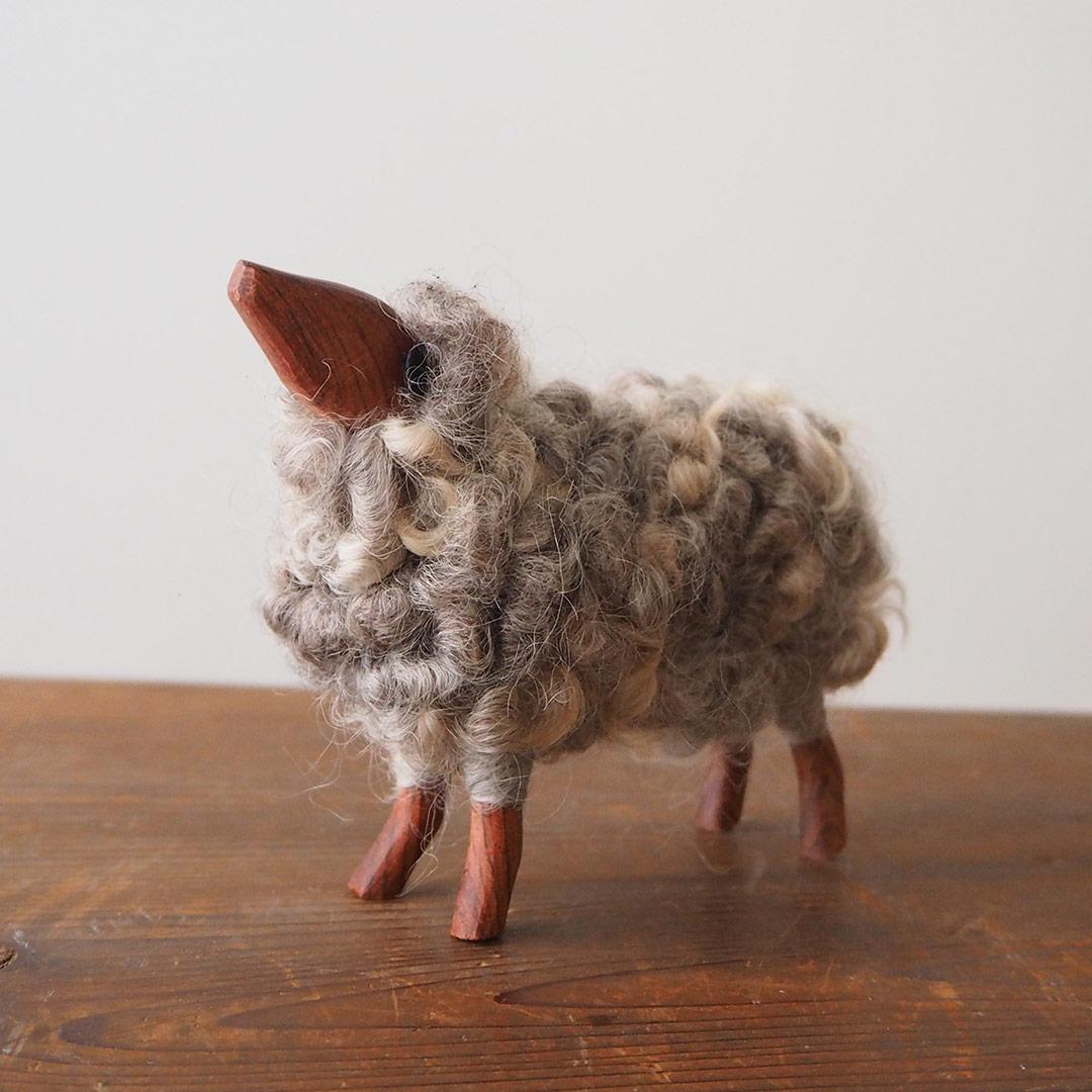 羊の置物(グレーのひつじ)/大