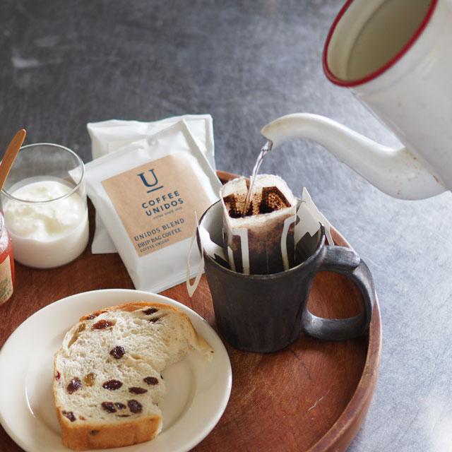 ドリップバッグコーヒー/中煎り/UNIDOS BLEND/1個