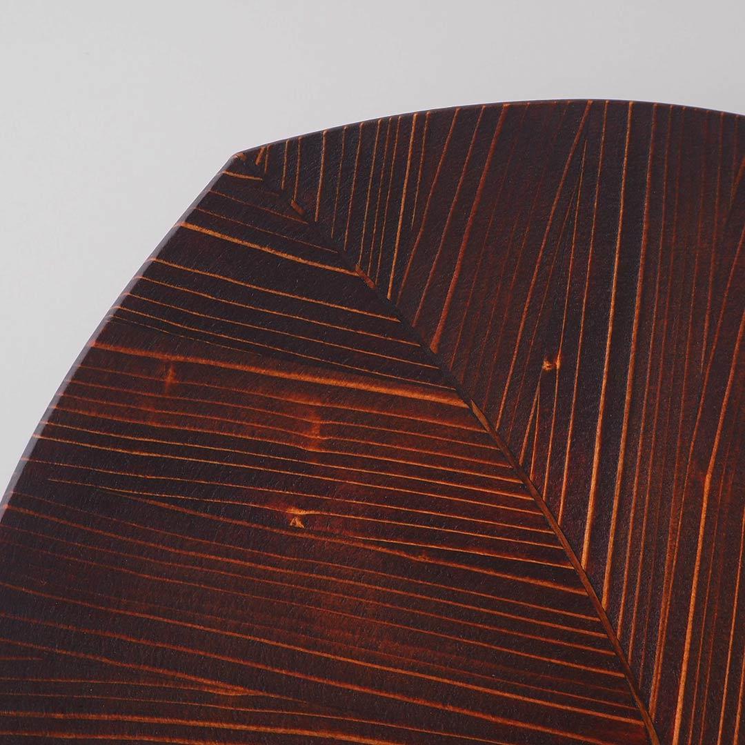 箱入りギフト/うるしの木の葉皿(中)/2点セット