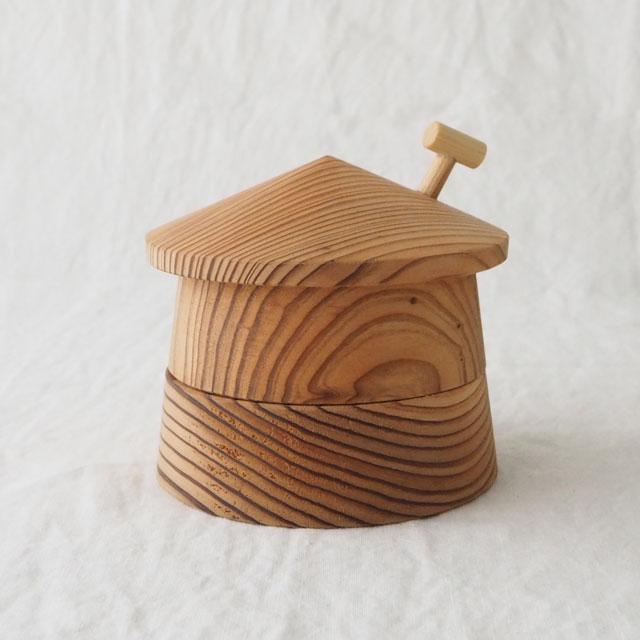 tooth house/おうちの形の乳歯ケース(国産杉)