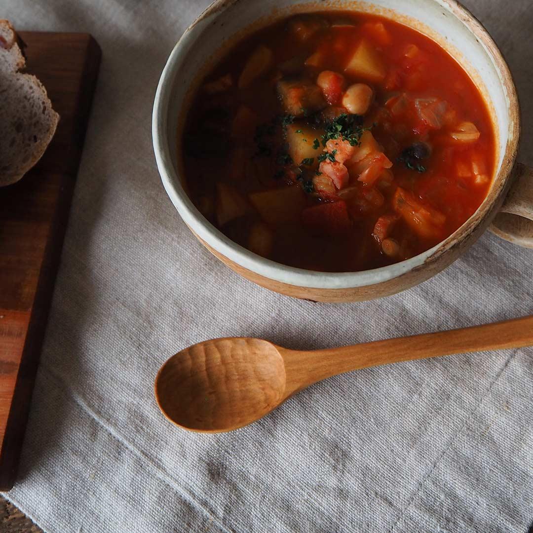木のスープスプーン/16cm/さくら