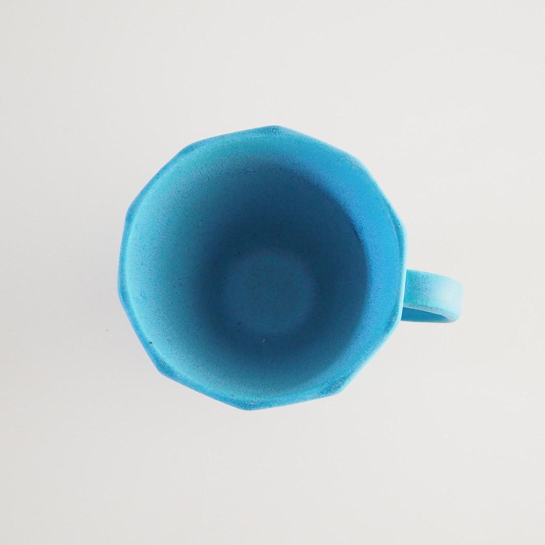 Pure blue/三角マグカップ(面取り)