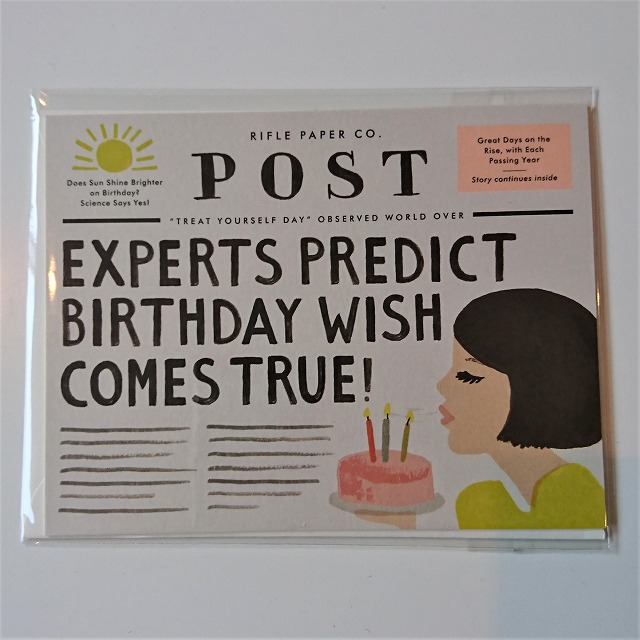 Birthday card 【Breaking News Birthday】 :バースデーニュース