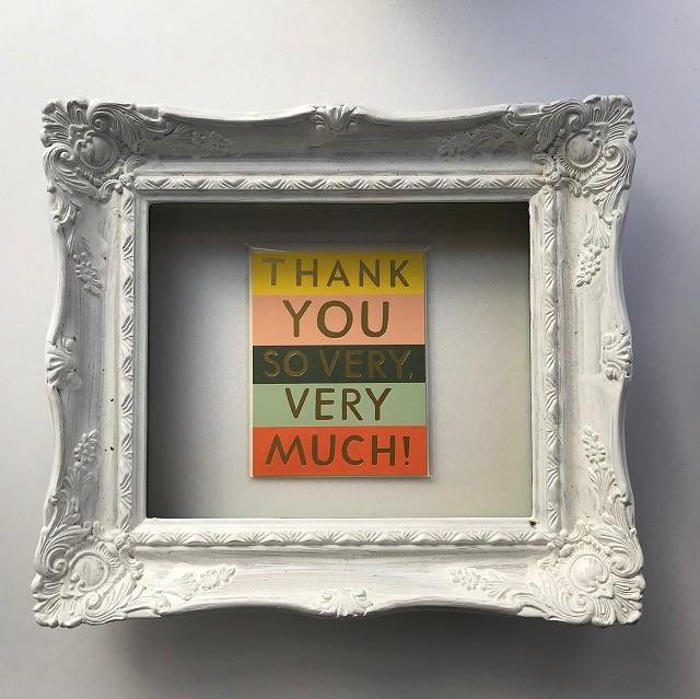 Thank you card 【Color Block Thank you 】