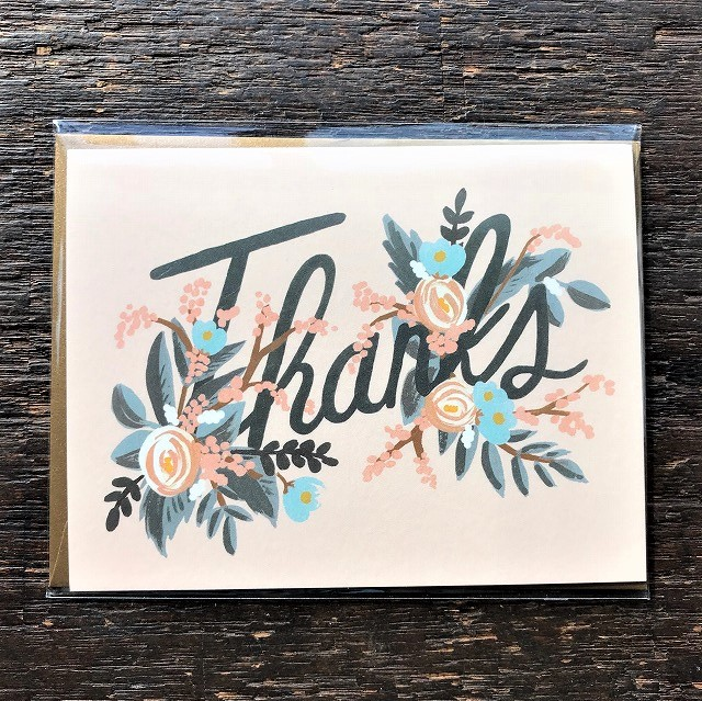 Thank you card 【Woodland Thank you  】