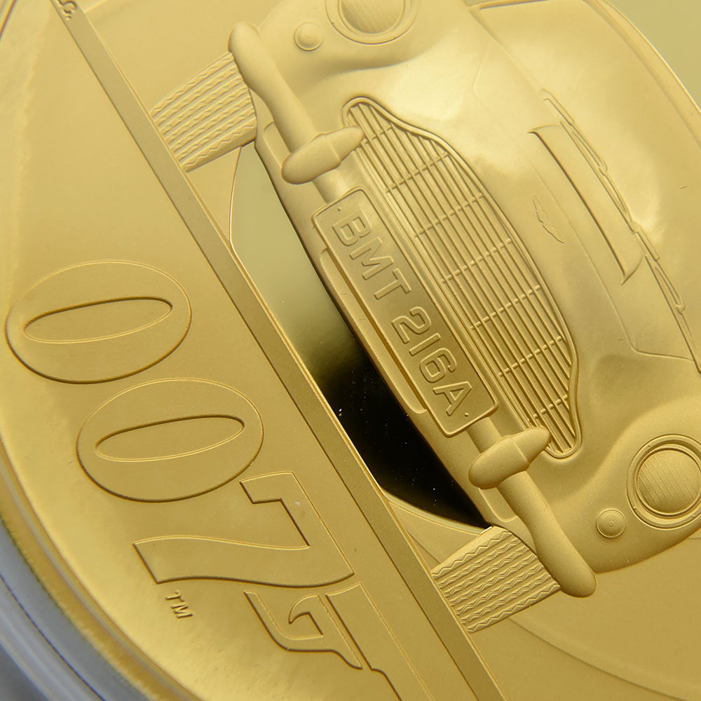 2020 エリザベス2世 ジェームズ・ボンド「007」1000ポンド金貨(1kg)プルーフコイン 未鑑定 専用BOX付 発行数20枚