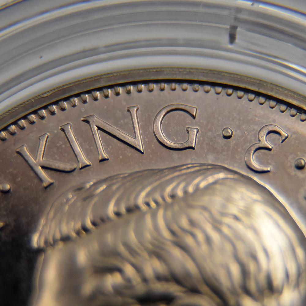バミューダ 1936 エドワード8世 クラウン メダル型プルーフ銀貨 未鑑定 ケース付き