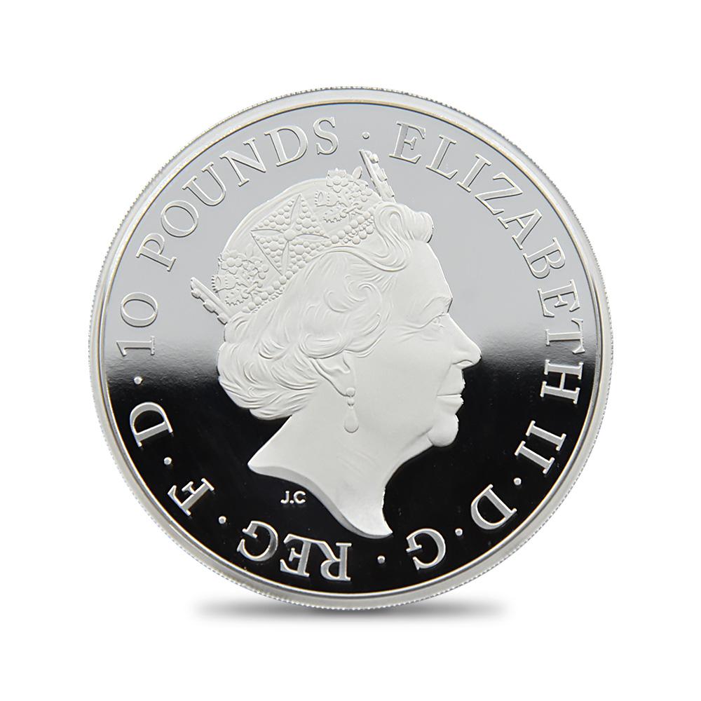 2020 エリザベス2世 クイーンズビースト ハノーヴァーの白い馬 10ポンド10オンスプルーフ銀貨 未鑑定