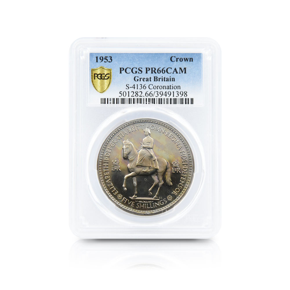1953 エリザベス2世 エリザベス2世戴冠記念 クラウン白銅貨 PCGS PR66CA