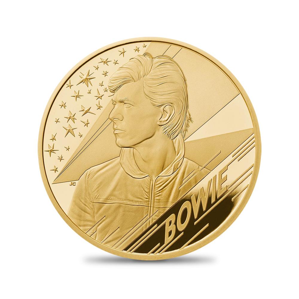 2020 エリザベス2世 ミュージックレジェンド デヴィッド・ボウイ 25ポンド金貨 4分の1オンス 【ご予約承り品】