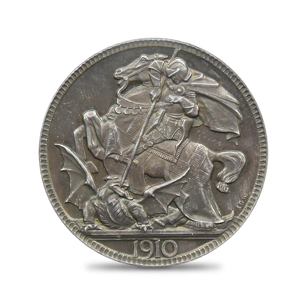 1910年 ジョージ5世 クラウン銀貨 PCGS PR64