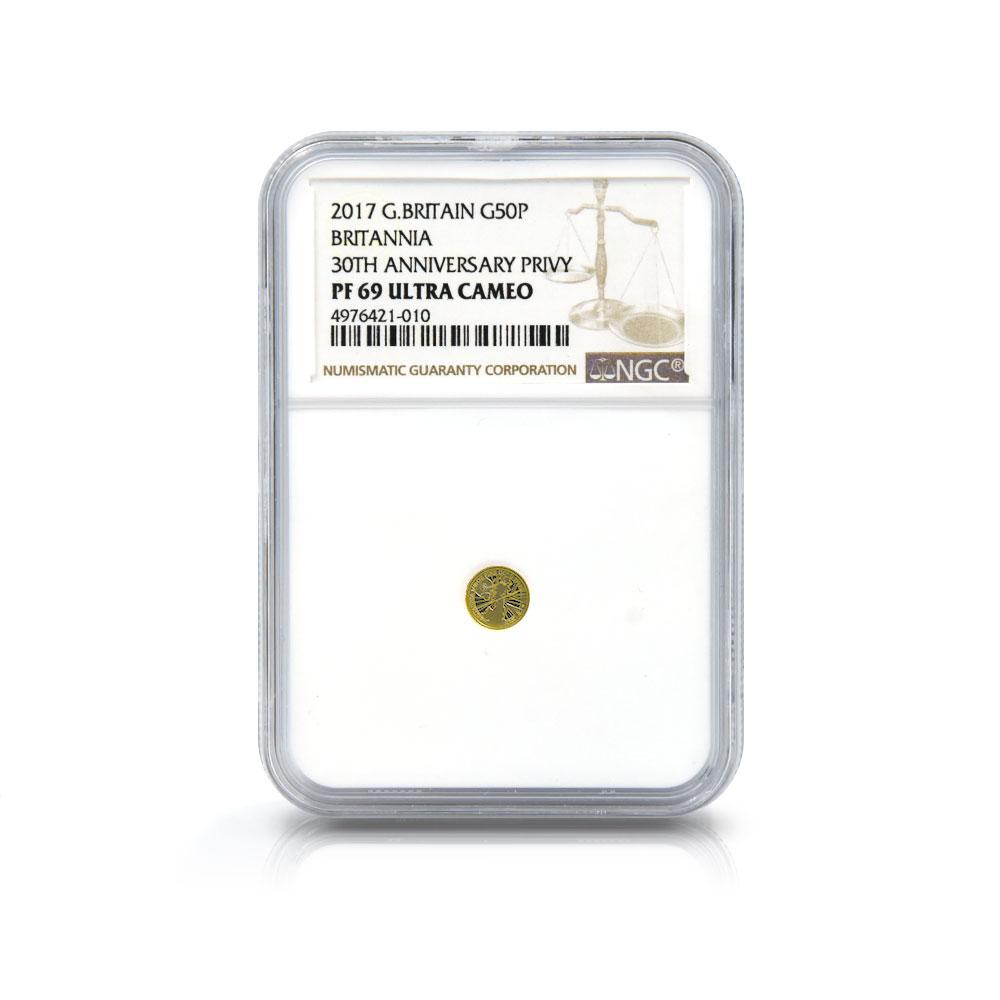 2017 エリザベス2世 ブリタニア 50ペンス・1ポンド・10ポンド・25ポンド・50ポンド・100ポンド 金貨6点セット NGC PF67・69・70UC