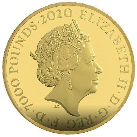 【完売】2020 エリザベス2世 「007」特別版 7000ポンド7kg金貨 専用ボックス付