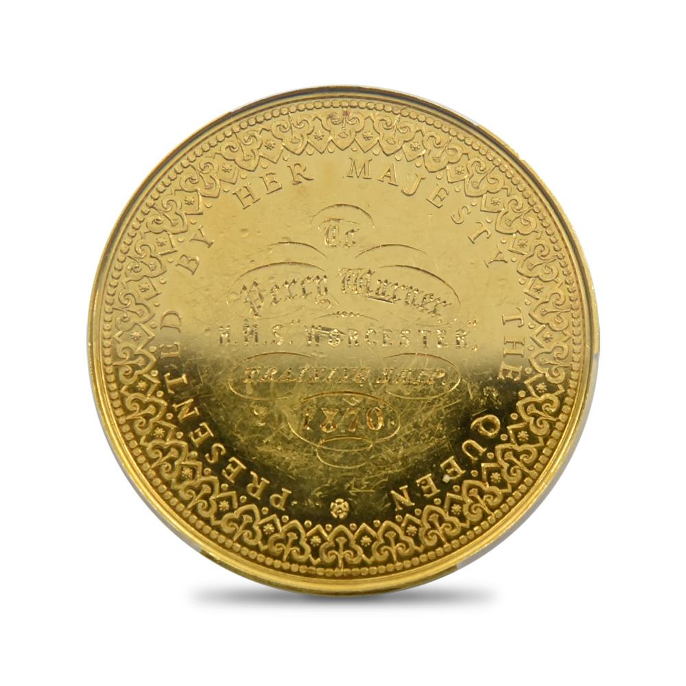 1870(no data) ヴィクトリア女王 パーシー・ウォーナー授与 試作金メダル PCGS SP62