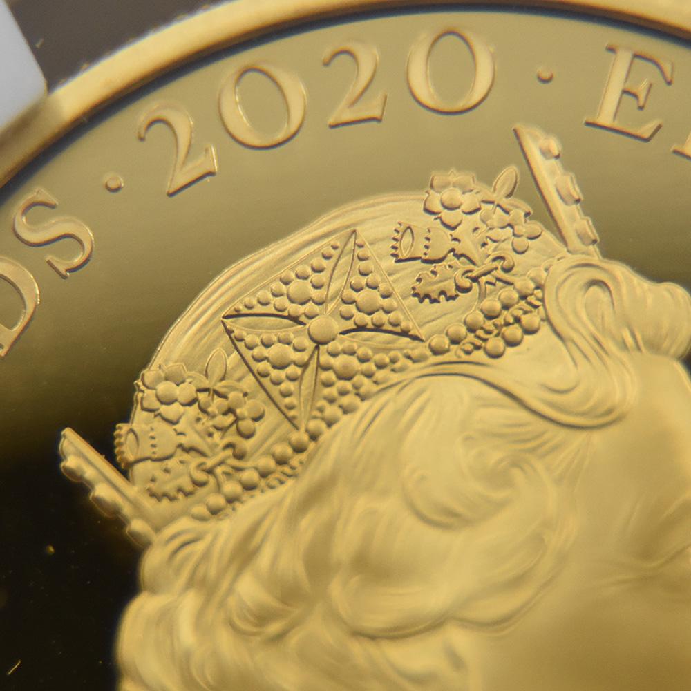2020 エリザベス2世 007 ジェームズ・ボンド 第2貨 100ポンド1オンス金貨 アーリーリリース NGC PF70UC 箱付き