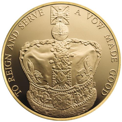 2013 戴冠60周年記念(王冠)5ポンド金貨 PCGS PR69DC 2,000枚発行