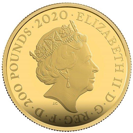 2020 エリザベス2世 「007」 200ポンド2オンス金貨